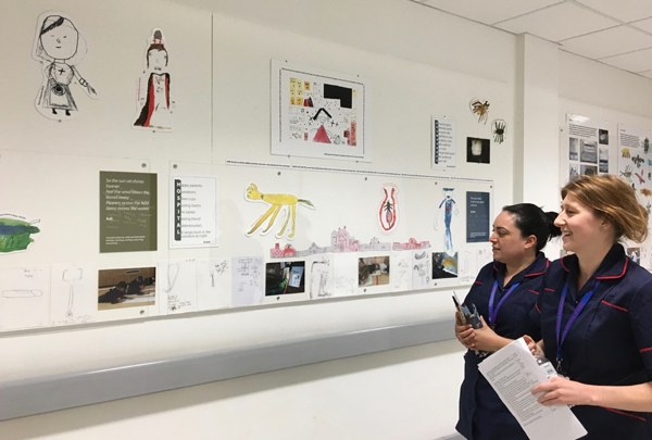 Nurses walking pasted exhibition