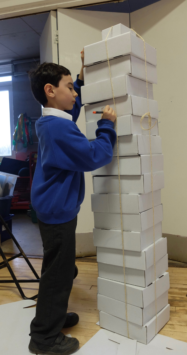 Evan created a unique tower