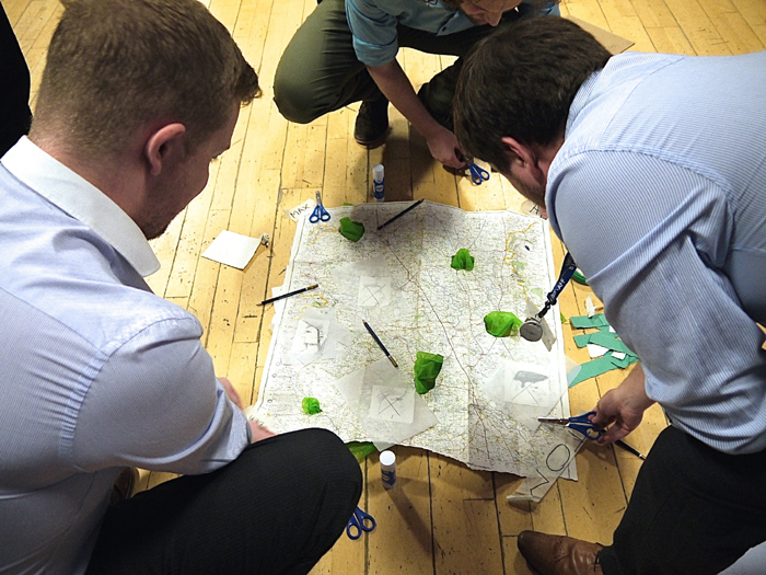 Staff at Round House Primary School create beautiful and strikingly individual maps